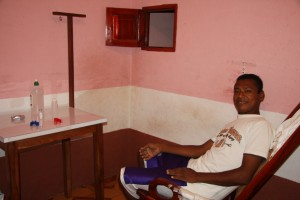 This is where Ernesto would sit to do his treatments.
